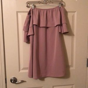 Tobi mauve pink strapless dress